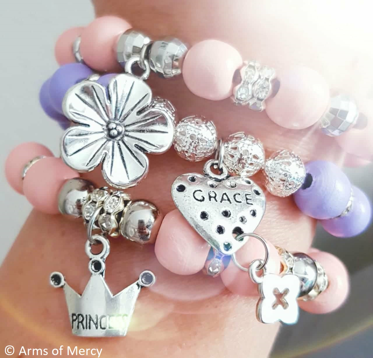 Arms of Mercy - Princess Blossom Bracelets for Mihla Engelbrecht