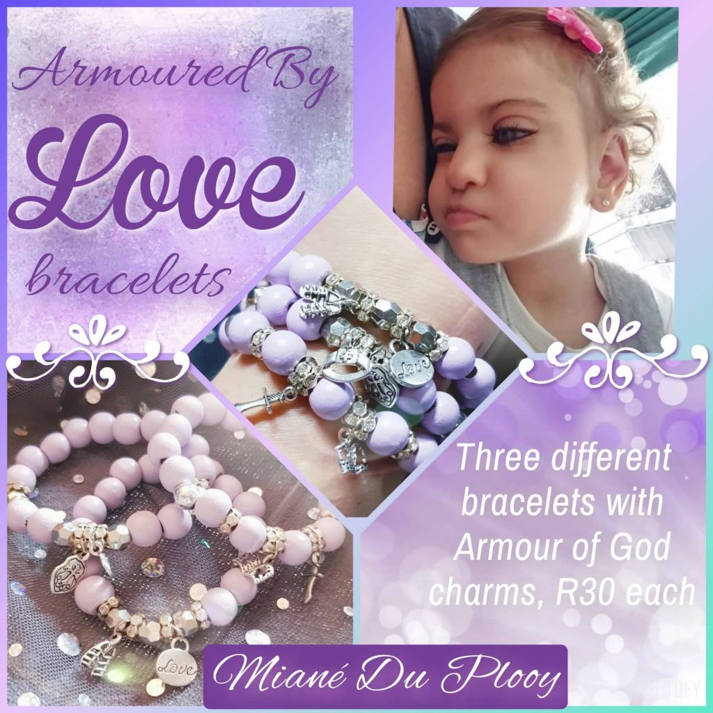Armoured by Love Bracelets for Miané du Plooy - Dandy Walker Variant Syndrome