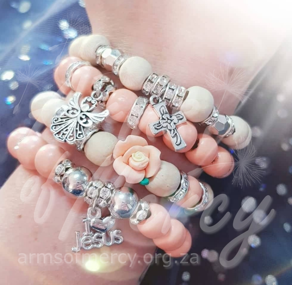 Angelic Creamy Peach Bracelets © Arms of Mercy NPC