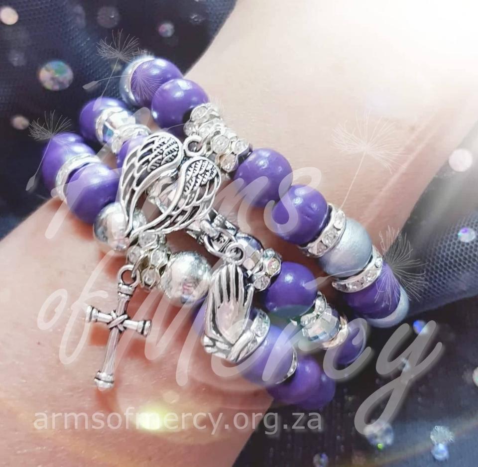 Purple Perfection Bracelets © Arms of Mercy NPC