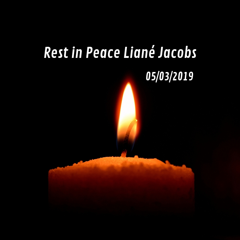 Rest in Peace Liané Jacobs - Arms of Mercy NPC
