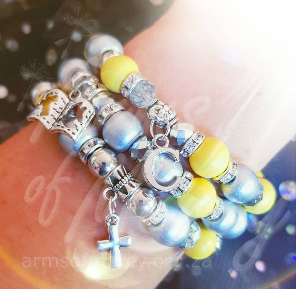 I Survived Sarcoma Cancer Bracelets for Chereez Nel © Arms of Mercy NPC