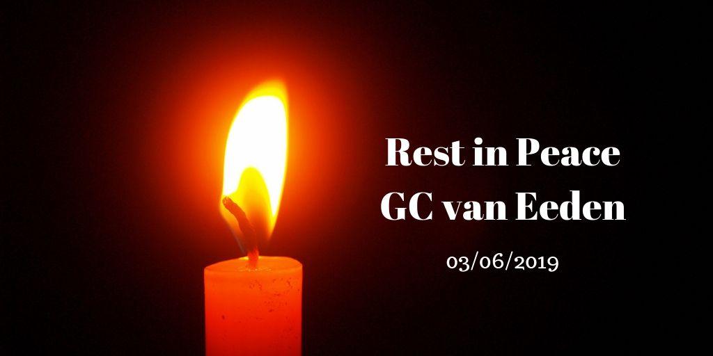 rest in peace gc van eeden