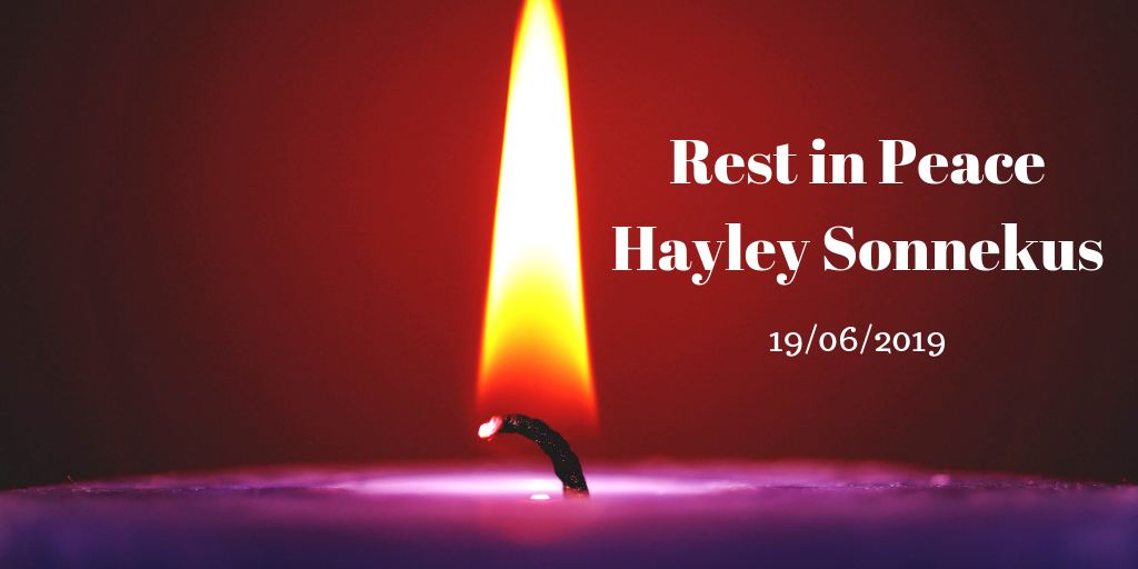 rest in peace hayley sonnekus