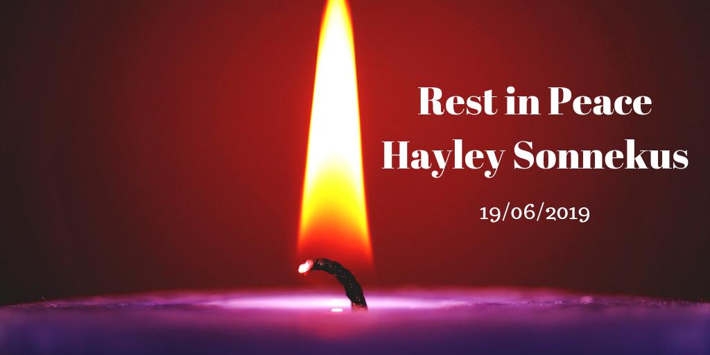 rest in peace hayley sonnekus