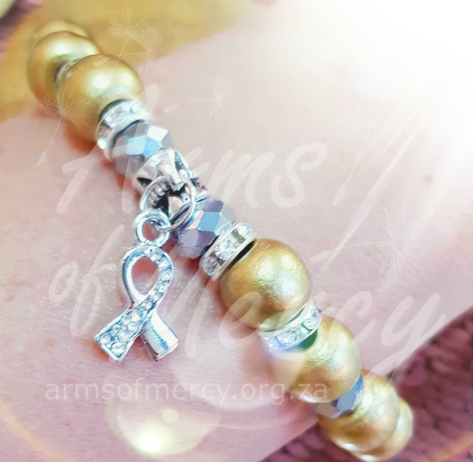 Going Gold Childhood Cancer Awareness Bracelet - Arms of Mercy NPC