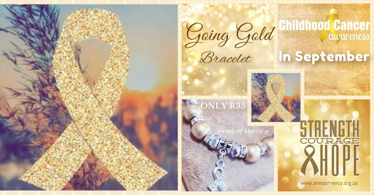 Join the Fight Against Cancer this September – Childhood Cancer Awareness Month – NEW Going Gold Bracelet