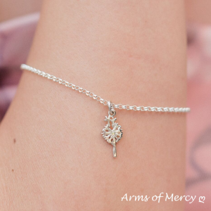 Sterling Silver Dandelion Charm - Dandelion Jewellery - Arms of Mercy NPC