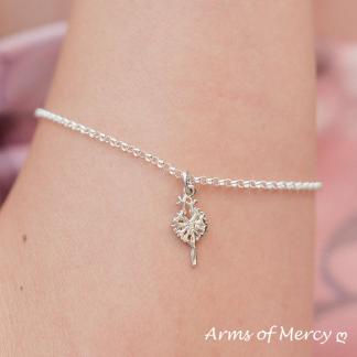 Sterling Silver Dandelion Charm - Dandelion Jewellery - Arms of Mercy NPC