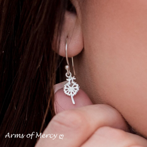 Sterling Silver Dandelion Earrings - Dandelion Jewellery - Arms of Mercy NPC
