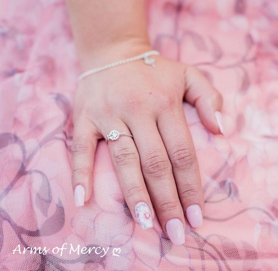 Sterling Silver Dandelion Ring - Dandelion Jewellery - Arms of Mercy NPC