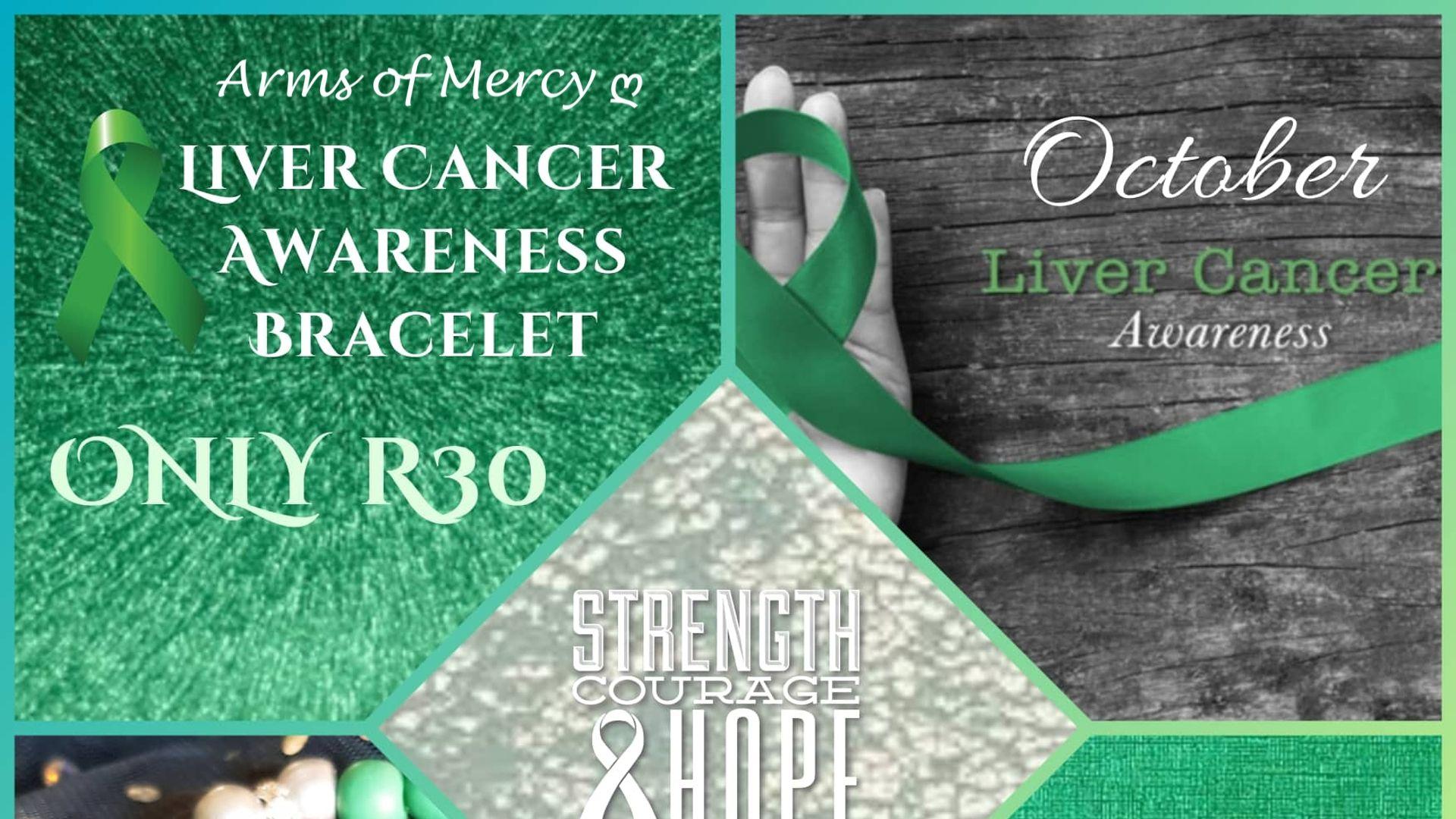 Liver Cancer Awareness Month - Liver Cancer Awareness Bracelet © Arms of Mercy NPC