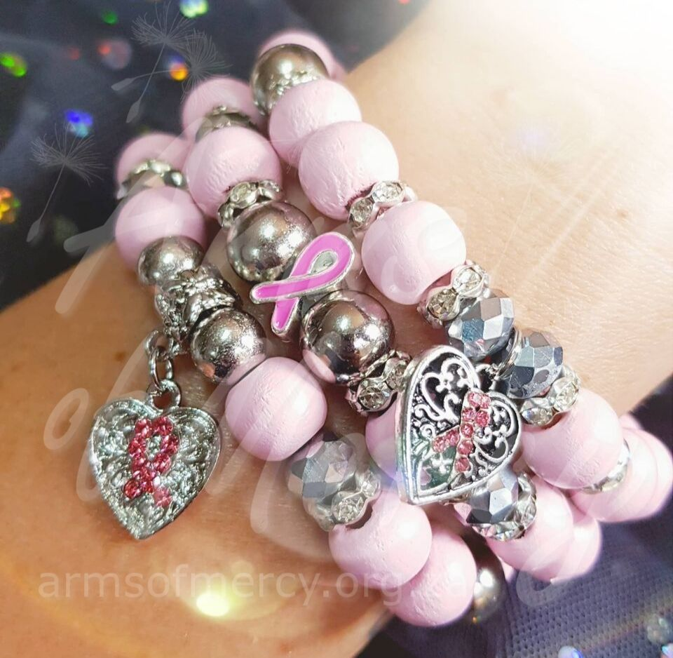 Limited Edition Pink Breast Cancer Awareness Bracelets - Arms of Mercy NPC
