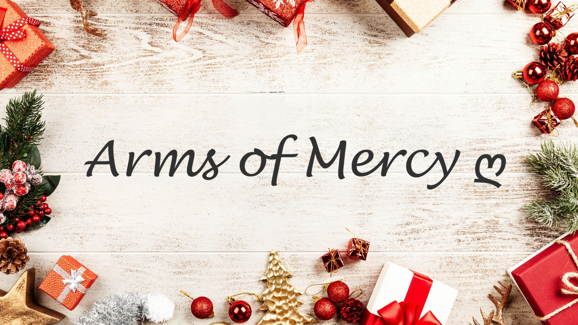 Spread the cheer with Arms of Mercy Christmas Napkin Holders this festive season
