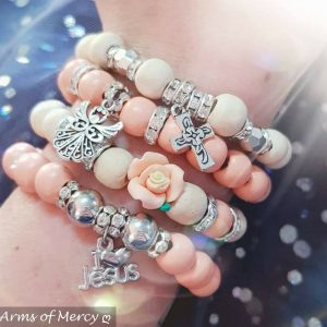 Angelic Creamy Peach Bracelets © Arms of Mercy NPC