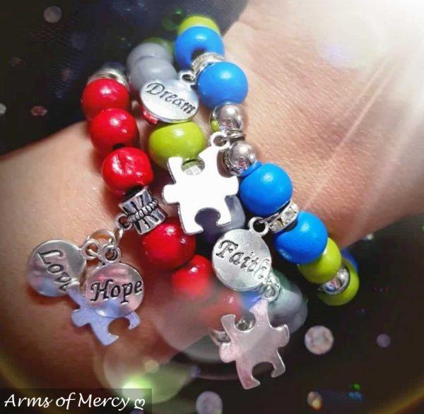 Autism Speaks Bracelets © Arms of Mercy NPC