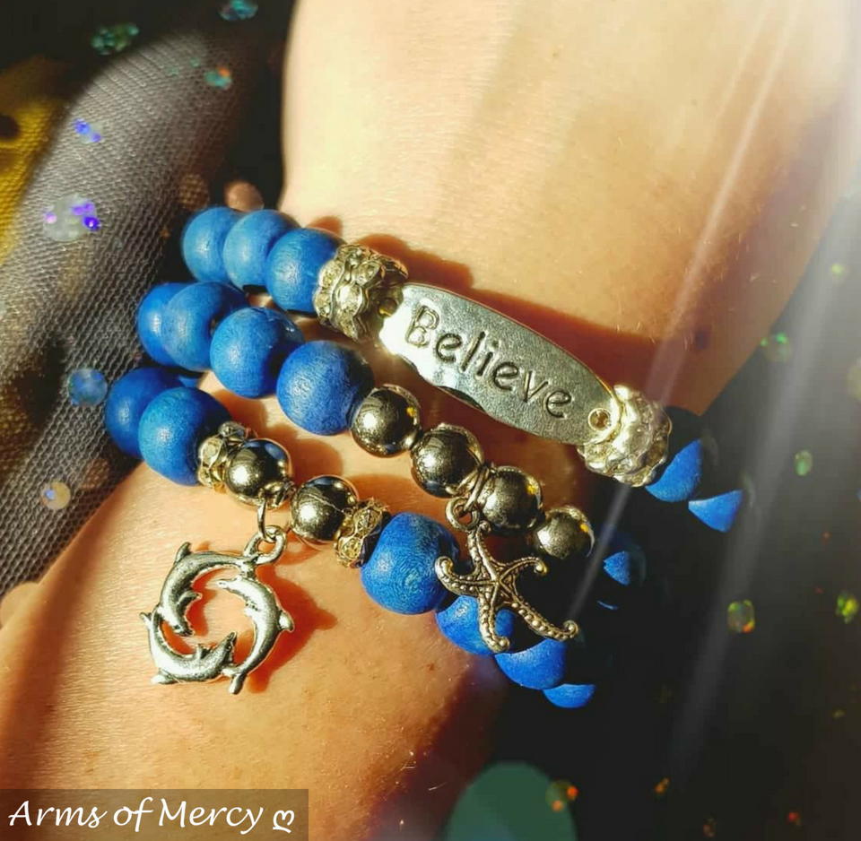 Beautiful Blue Bracelets © Arms of Mercy NPC