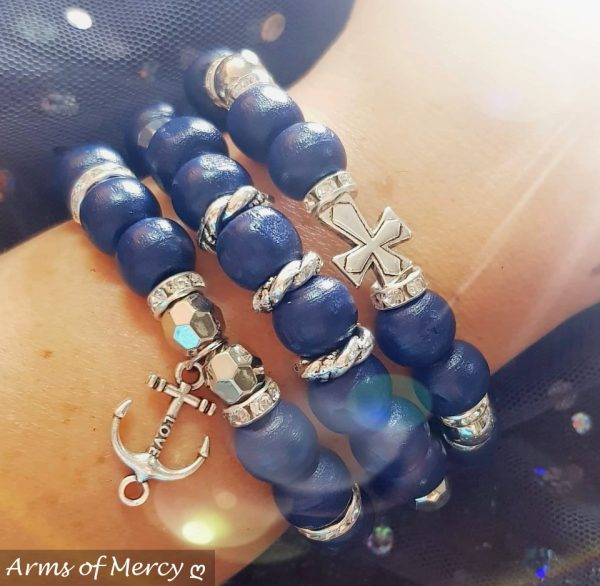 Blessed in Blue Bracelets © Arms of Mercy NPC
