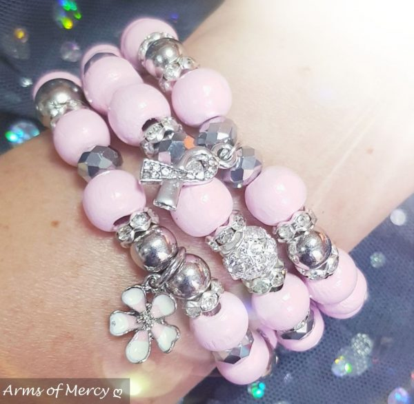Bloom with Grace Bracelets (Pink) © Arms of Mercy NPC