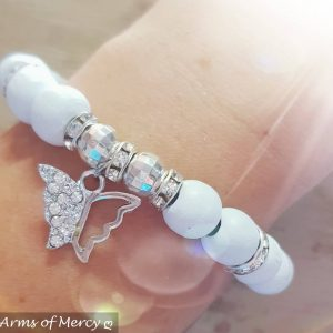 Butterfly Kisses Bracelets (White) © Arms of Mercy NPC