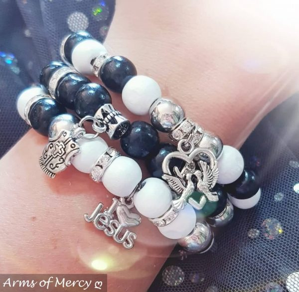 Ebony and Ivory Bracelets © Arms of Mercy NPC