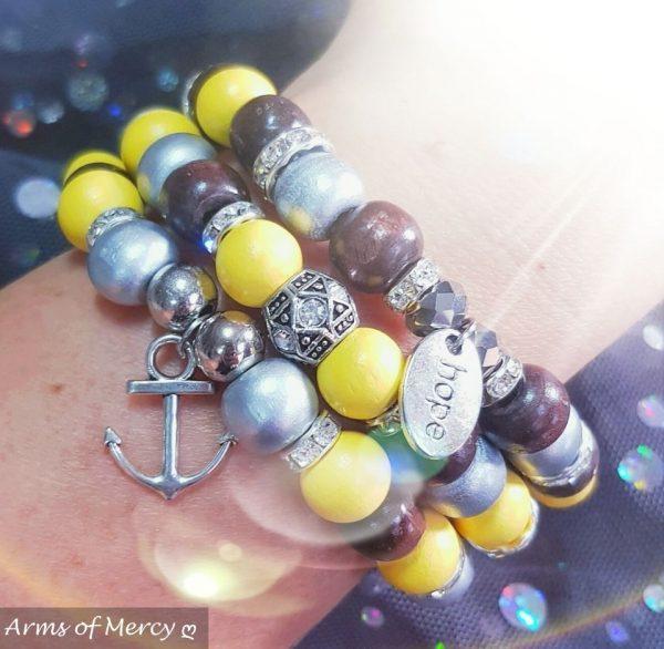 Hope Anchors the Soul Bracelets © Arms of Mercy NPC
