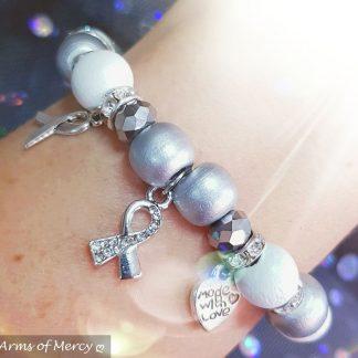 Lung Cancer Awareness Bracelet © Arms of Mercy NPC