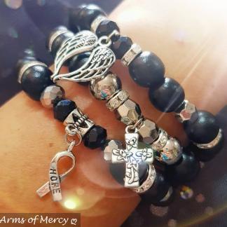 Melanoma Skin Cancer Awareness Bracelets © Arms of Mercy NPC