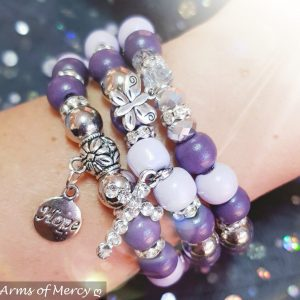Stronger Together Purple Bracelets © Arms of Mercy NPC