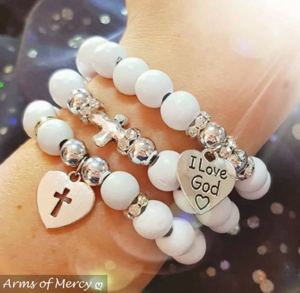 Whimsical White Bracelets © Arms of Mercy NPC