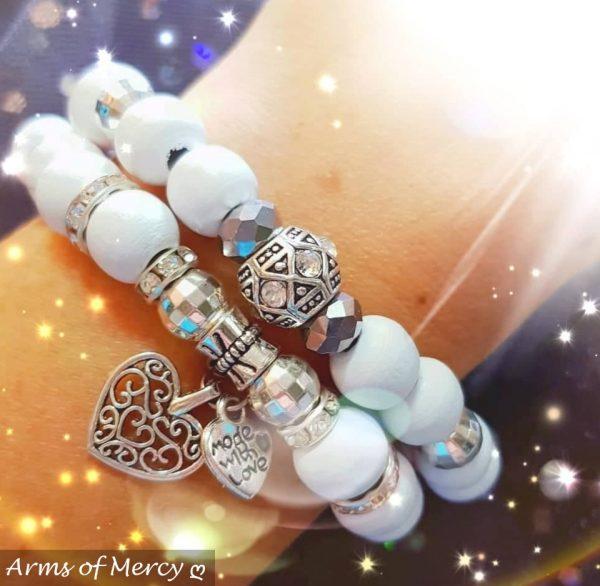 Timeless Bracelet Collection (White) © Arms of Mercy NPC