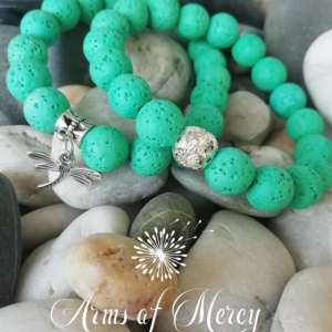 green lava beads bracelet - arms of mercy npc