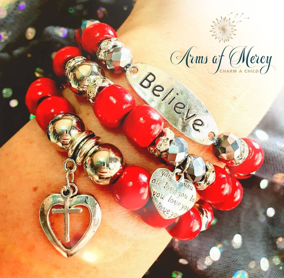 Believe in Love Bracelets © Arms of Mercy NPC