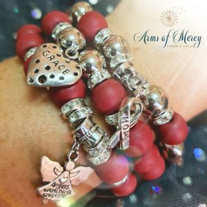 Multiple Myeloma Cancer Awareness Bracelets © Arms of Mercy NPC