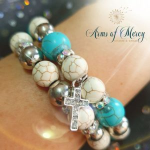 Turquoise Marble Bead Bracelets © Arms of Mercy NPC