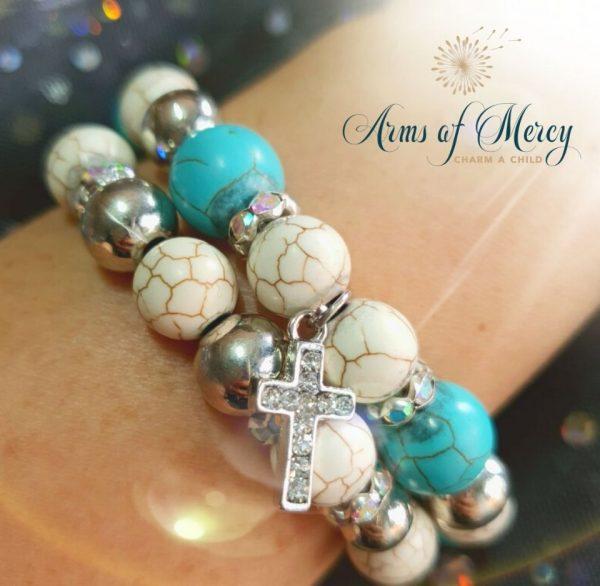 Turquoise Marble Bead Bracelets © Arms of Mercy NPC