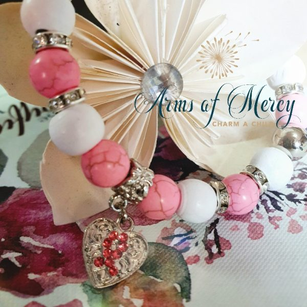 Pink Marble Bead Bracelet © Arms of Mercy NPC
