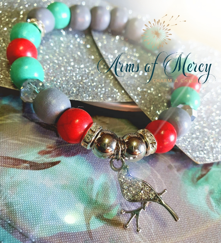 Red Marble Bead Bracelet © Arms of Mercy NPC
