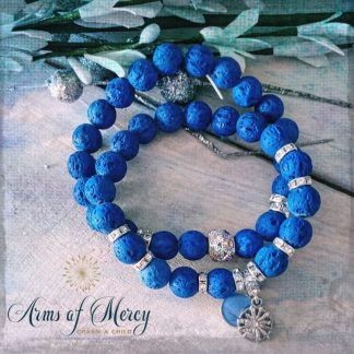 Royal Blue Lava Beads Bracelets © Arms of Mercy NPC