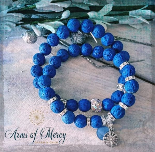 Royal Blue Lava Beads Bracelets © Arms of Mercy NPC