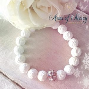 White Lava Beads Bracelets © Arms of Mercy NPC