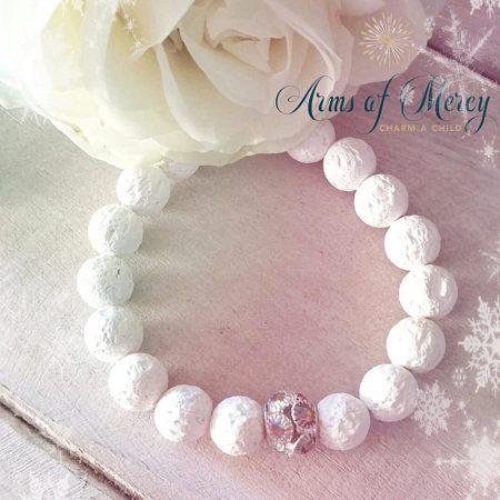 White Lava Beads Bracelets © Arms of Mercy NPC