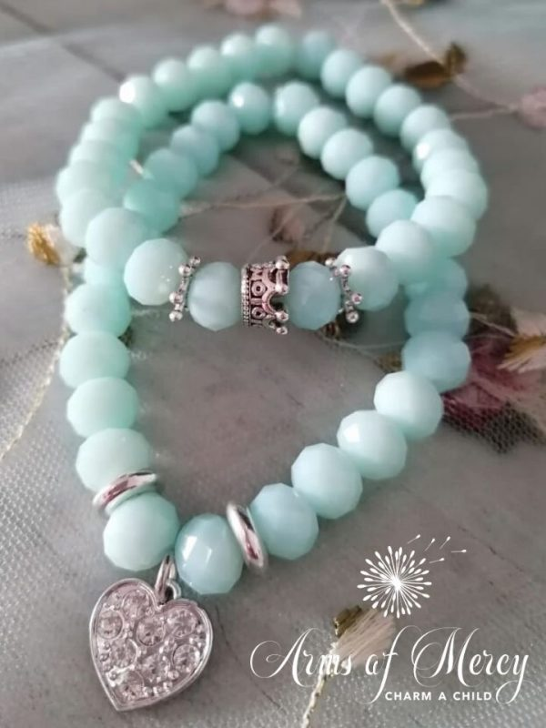 Turquoise Crystal Beads Bracelet © Arms of Mercy NPC