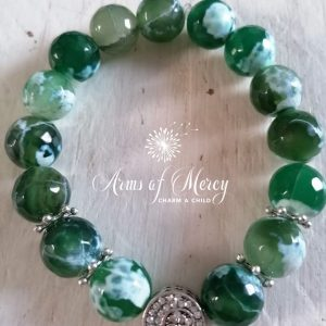 Natural Green Agate Beads Bracelet ©Arms of Mercy NPC