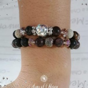 Natural Jasper and Lava Beads Bracelet Set © Arms of Mercy NPC