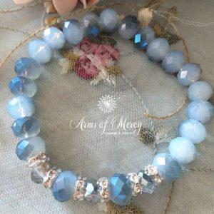 Blue Crystal Beads Bracelet © Arms of Mercy NPC
