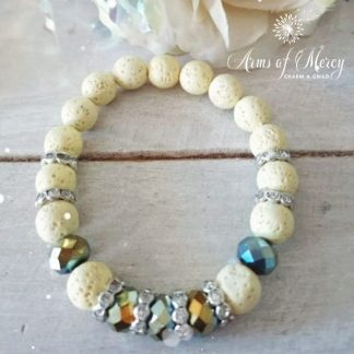 Light Yellow Lava Beads Bracelet © Arms of Mercy NPC
