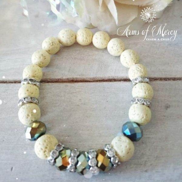 Light Yellow Lava Beads Bracelet © Arms of Mercy NPC