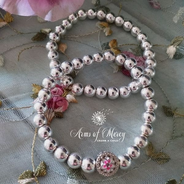 Silver Electroplated Beads Bracelet Set © Arms of Mercy NPC