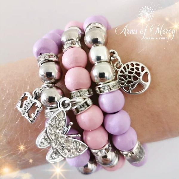 Walking with Butterflies Bracelets © Arms of Mercy NPC